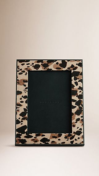 Animal Print Calfskin Photo Frame