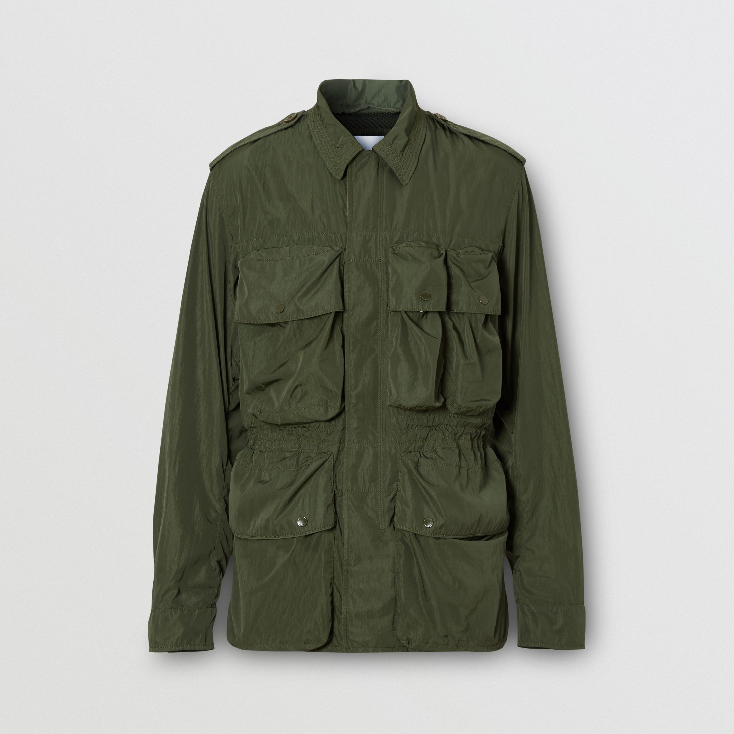 Nylon Field Jacket in Dark Olive Green - Men | Burberry - 4