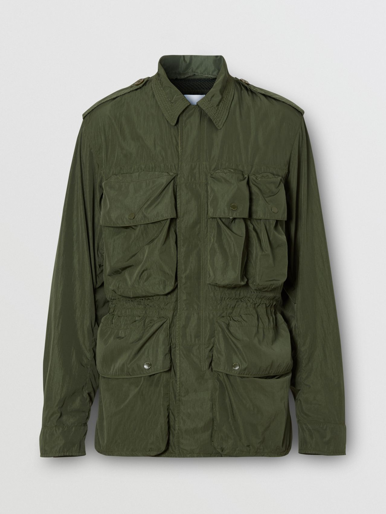 Nylon Field Jacket in Dark Olive Green
