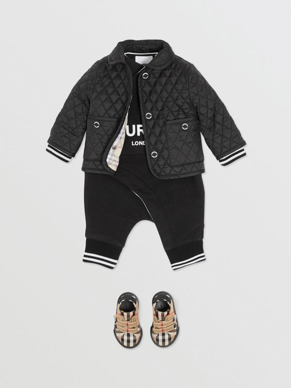 Showerproof Diamond Quilted Jacket in Black - Children   Burberry Hong Kong S.A.R - cell image 3