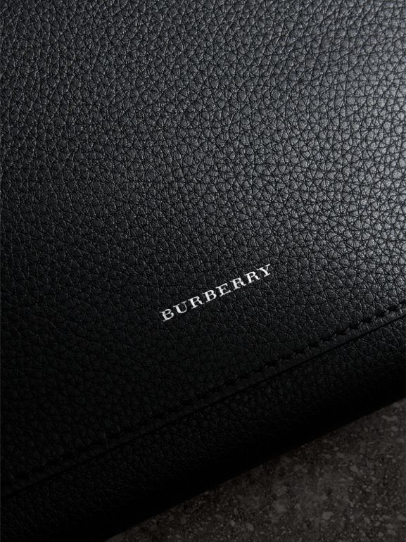 Two-tone Leather Wristlet Clutch in Black - Women | Burberry United Kingdom - cell image 1