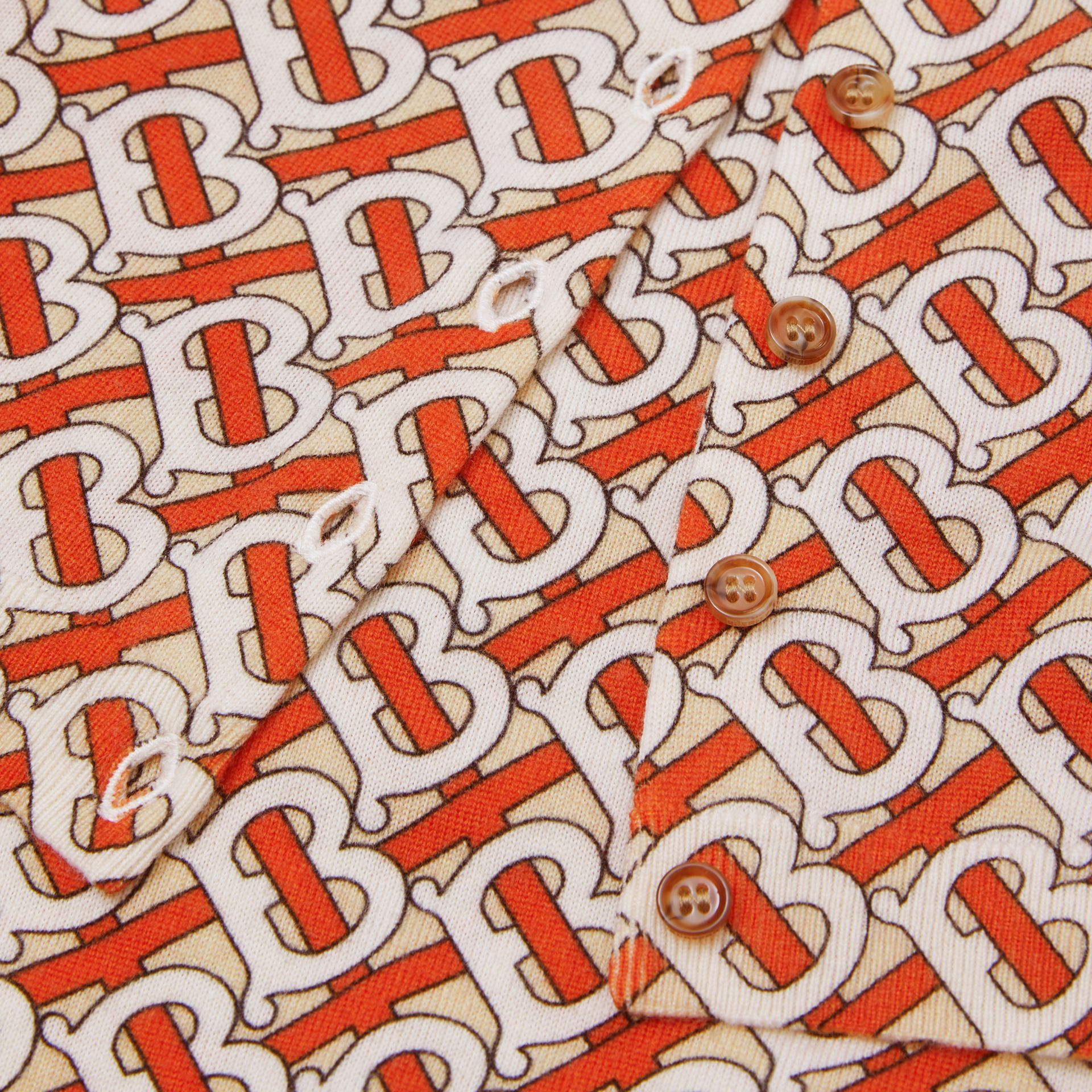 Monogram Print Merino Wool Two-piece Baby Gift Set in Vermilion - Children | Burberry - gallery image 1