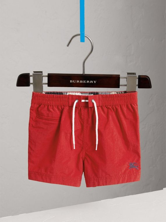 Lightweight Swim Shorts in Military Red | Burberry - cell image 2