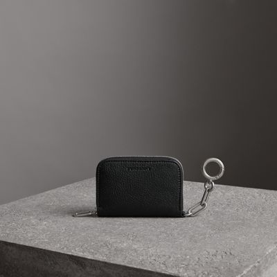 LINK DETAIL LEATHER ZIPAROUND WALLET