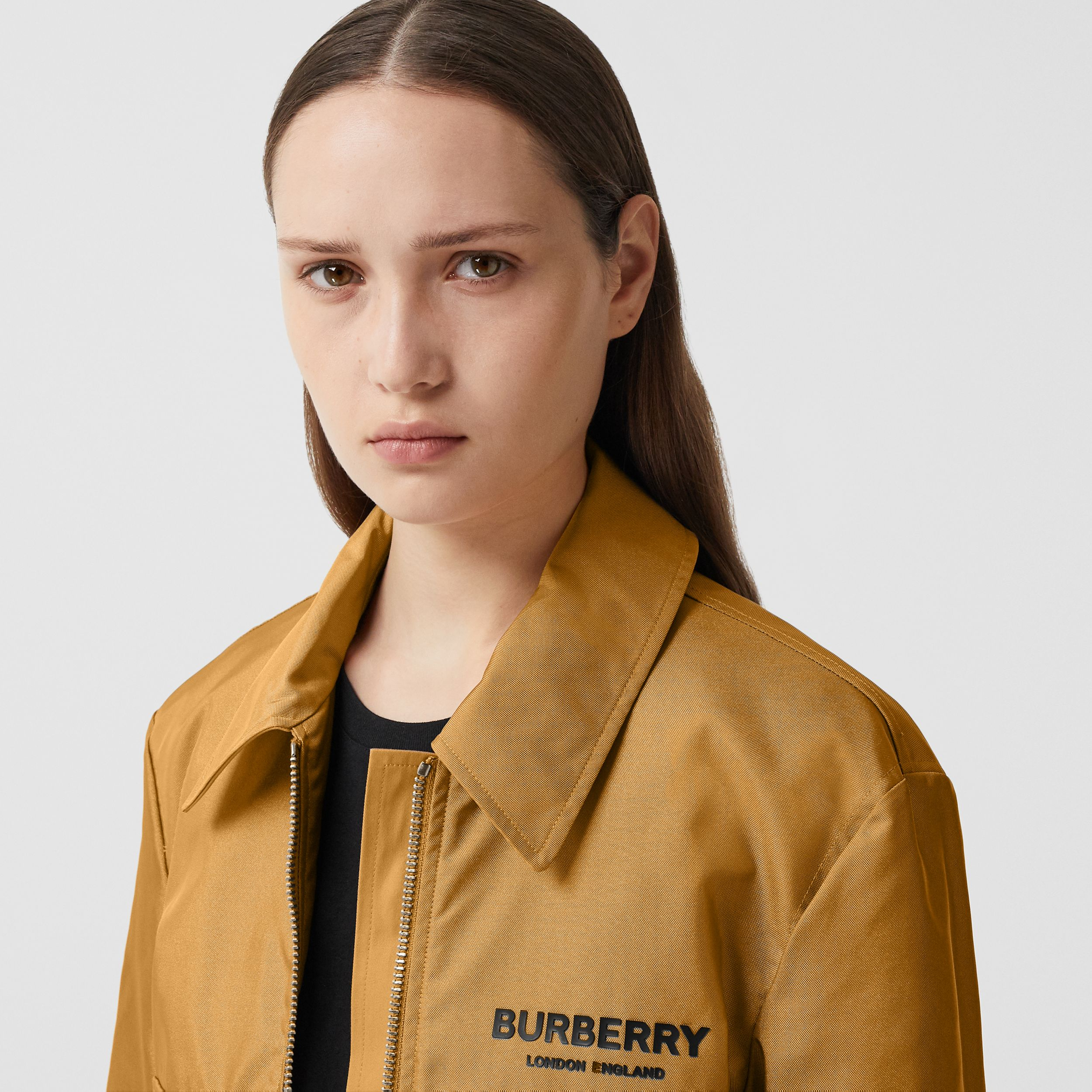 Logo Print Technical Canvas Field Jacket - Women | Burberry - 2