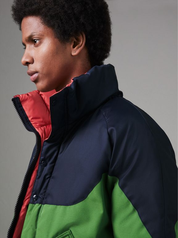 Tri-tone Down-filled Reversible Jacket in Bright Grass Green - Men | Burberry Australia - cell image 1