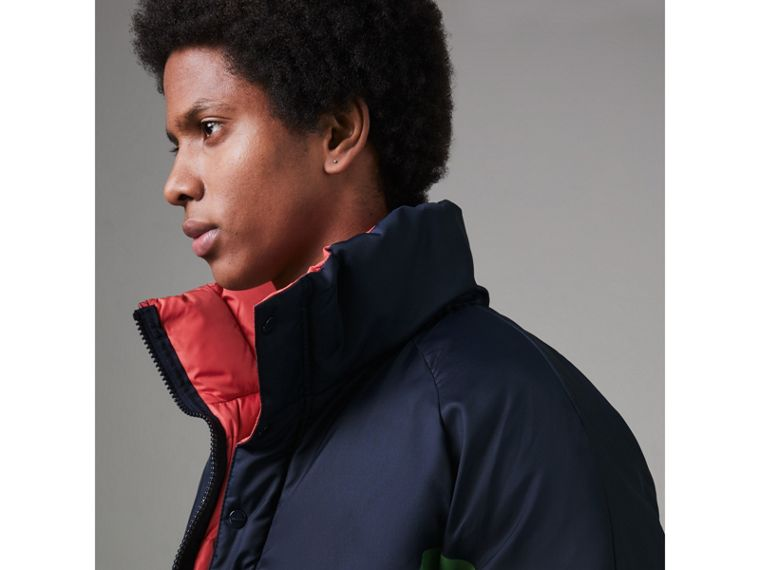 Tri-tone Down-filled Reversible Jacket in Bright Grass Green - Men | Burberry United Kingdom - cell image 1