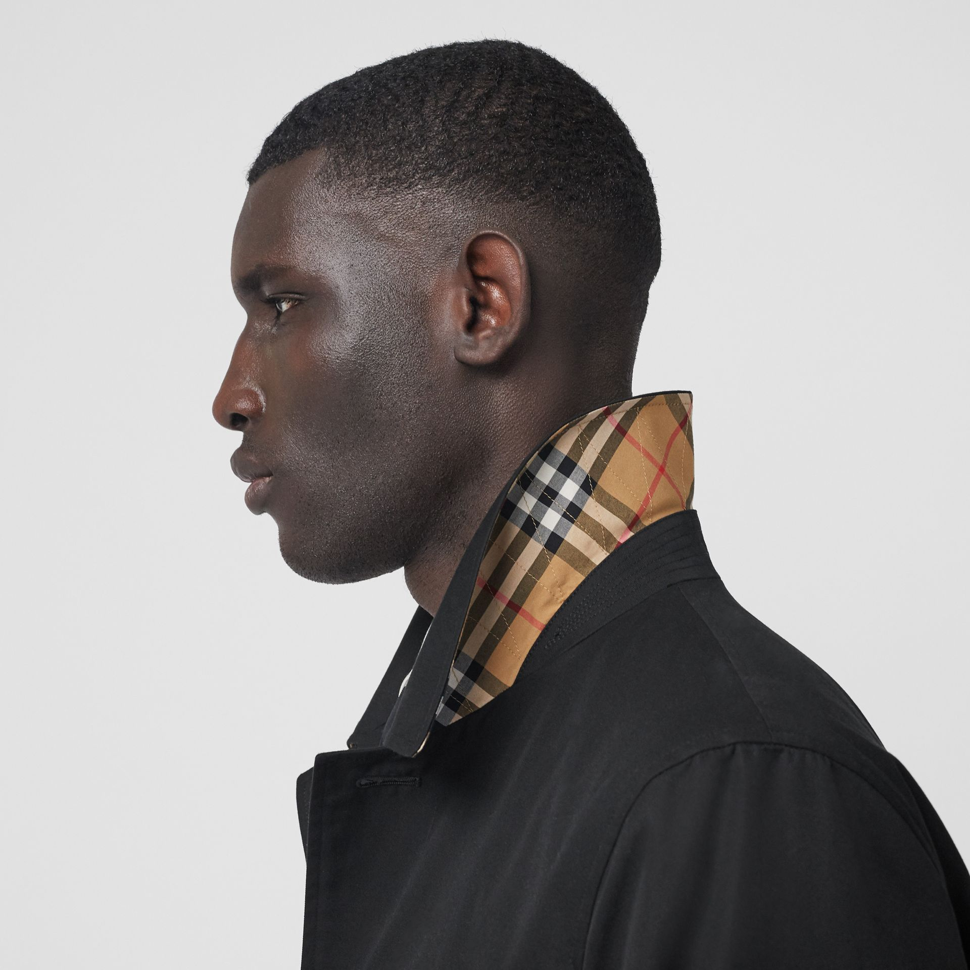 The Pimlico Car Coat in Black - Men | Burberry - gallery image 5