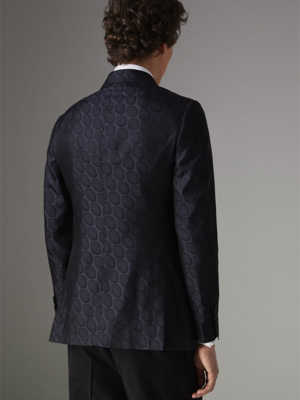 Soho Fit Spot Silk Evening Jacket in Midnight Blue - Men | Burberry Singapore - cell image 2