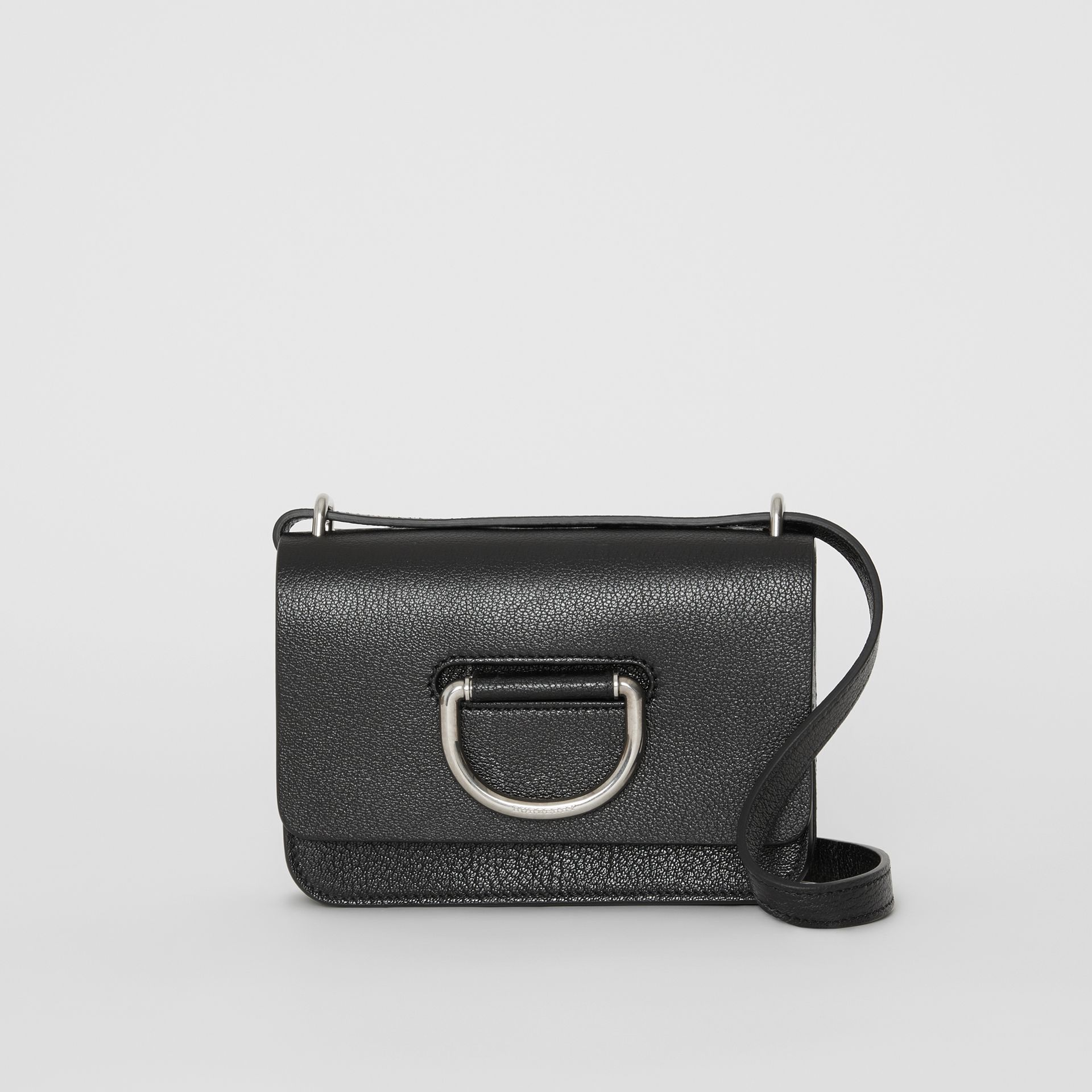 The Mini Leather D-ring Bag in Black - Women | Burberry Canada - gallery image 0