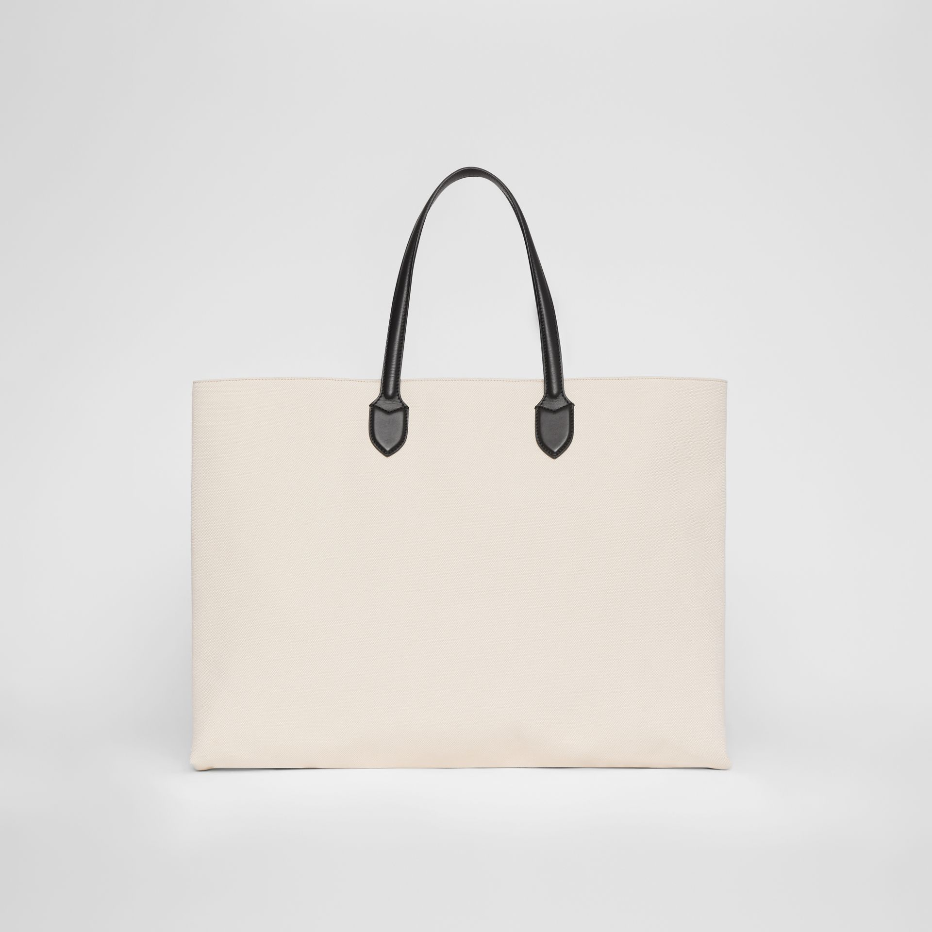 Logo Detail Cotton Blend Tote in Natural - Men | Burberry - gallery image 5