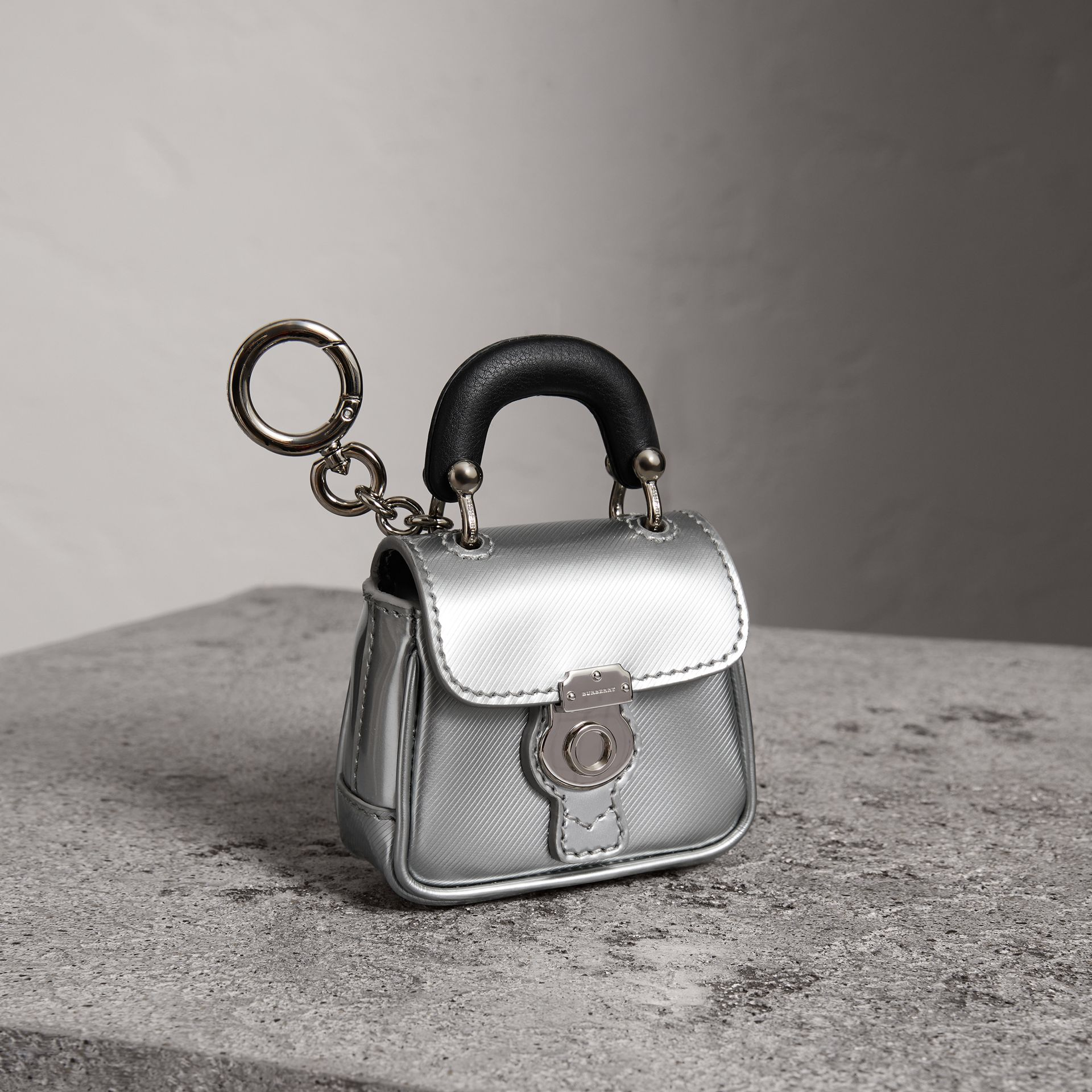 The DK88 Charm in Silver - Women | Burberry - gallery image 0