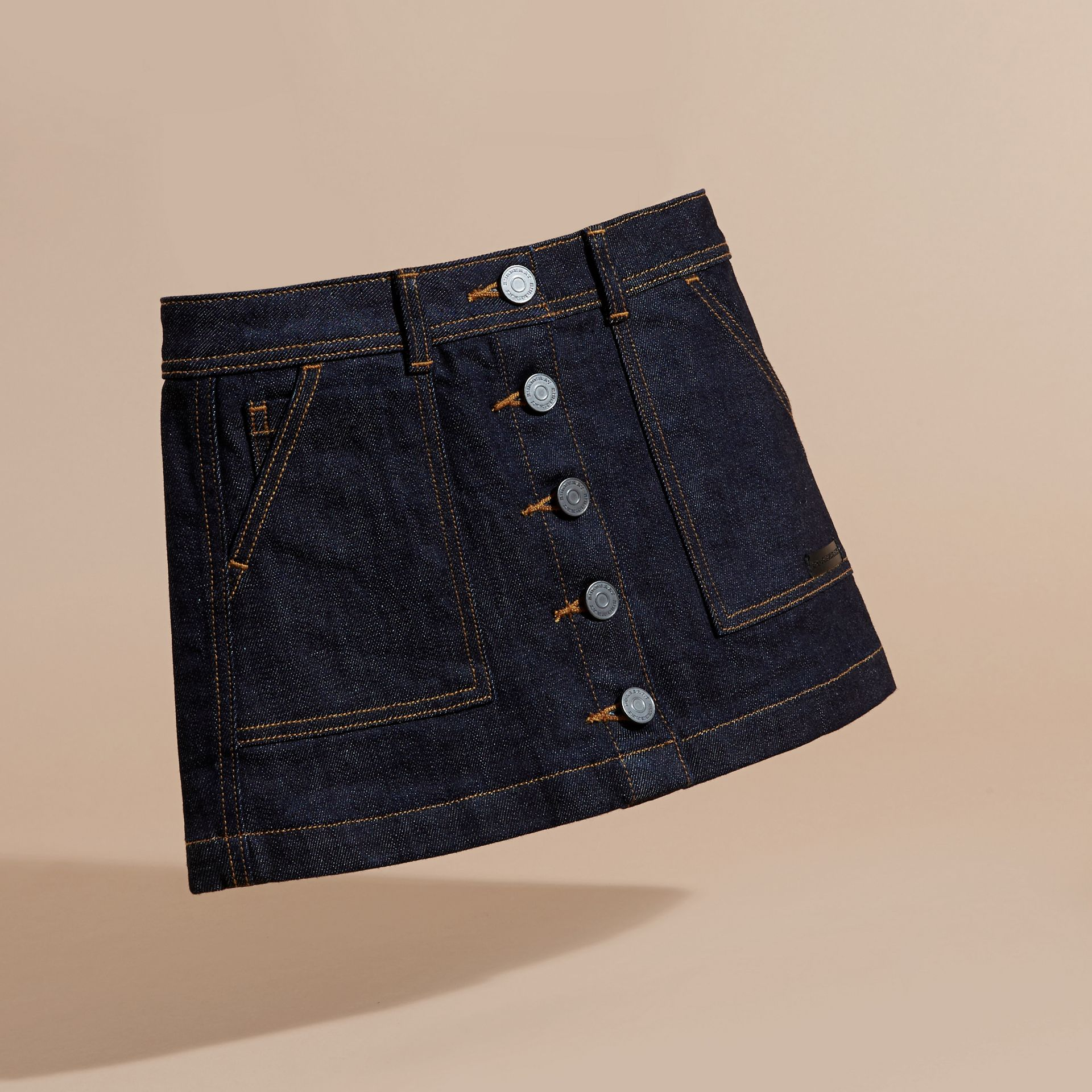 Dark indigo Denim A-line Skirt - gallery image 3