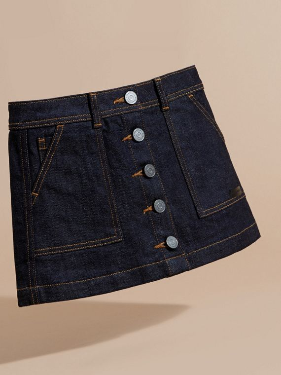 Dark indigo Denim A-line Skirt - cell image 2