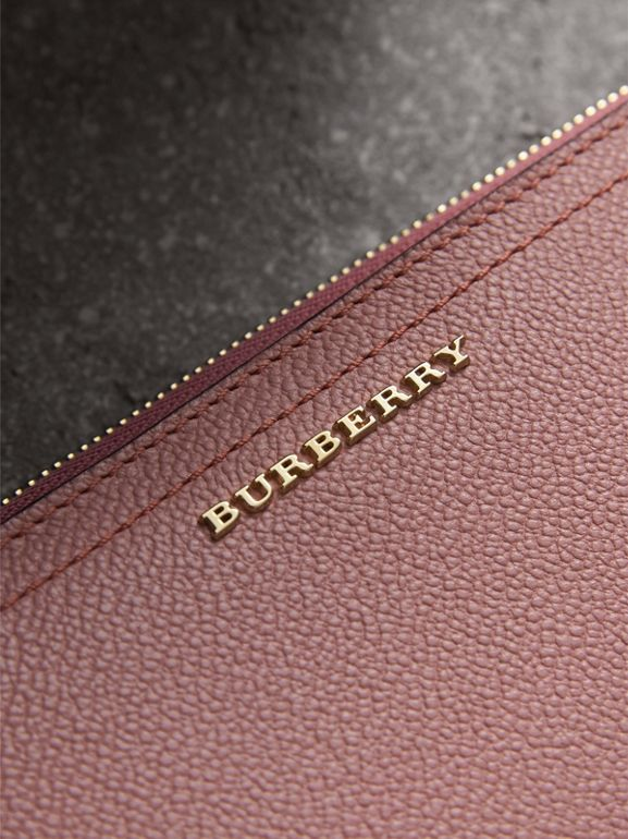 Grainy Leather Ziparound Wallet in Dusty Pink - Women | Burberry - cell image 1