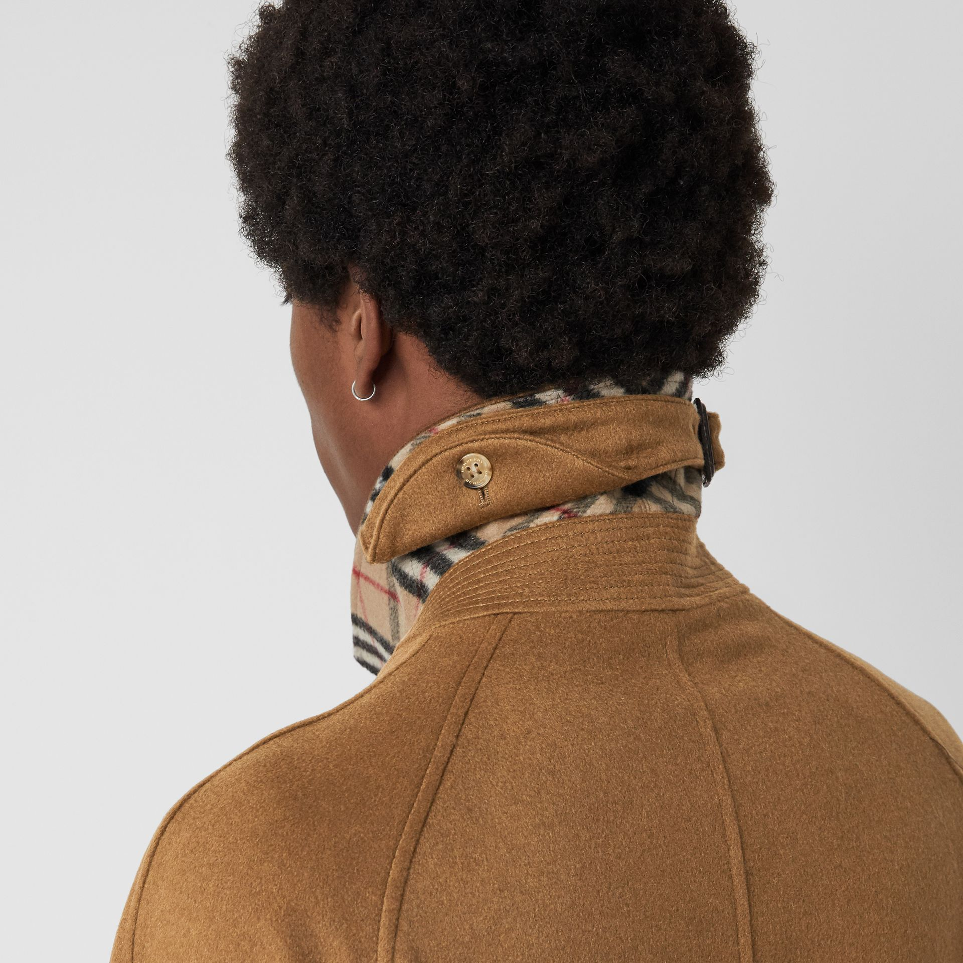 Cashmere Car Coat in Dark Camel - Men | Burberry United Kingdom - gallery image 5