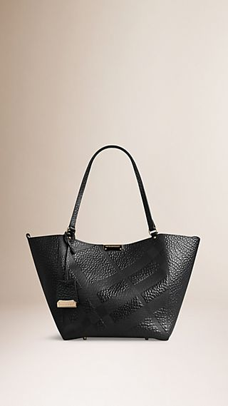 The Small Canter in Embossed Check Leather