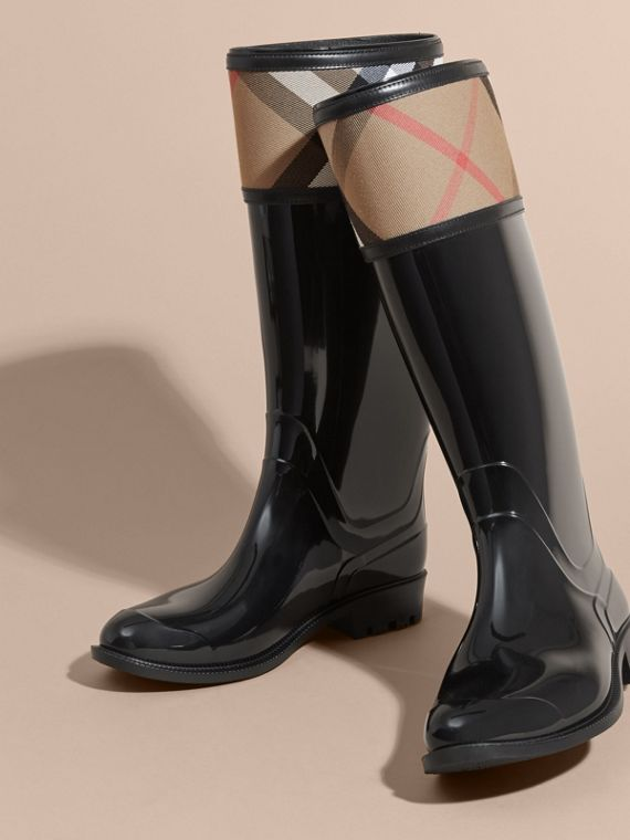 House Check Rain Boots - Women | Burberry - cell image 2