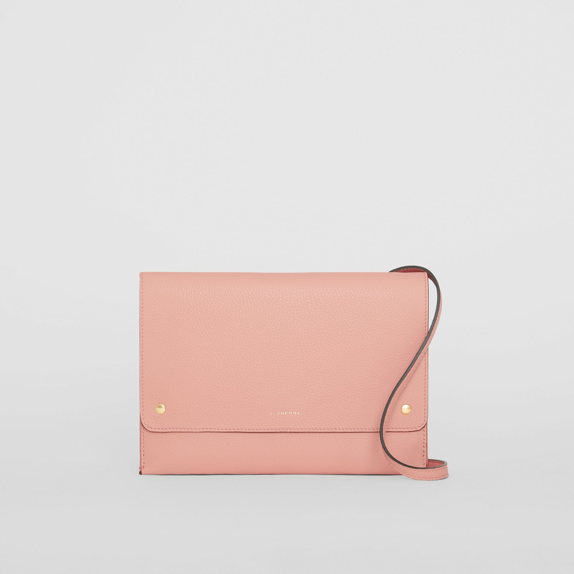 Leather Envelope Crossbody Bag in Ash Rose - Women | Burberry United States - gallery image 0