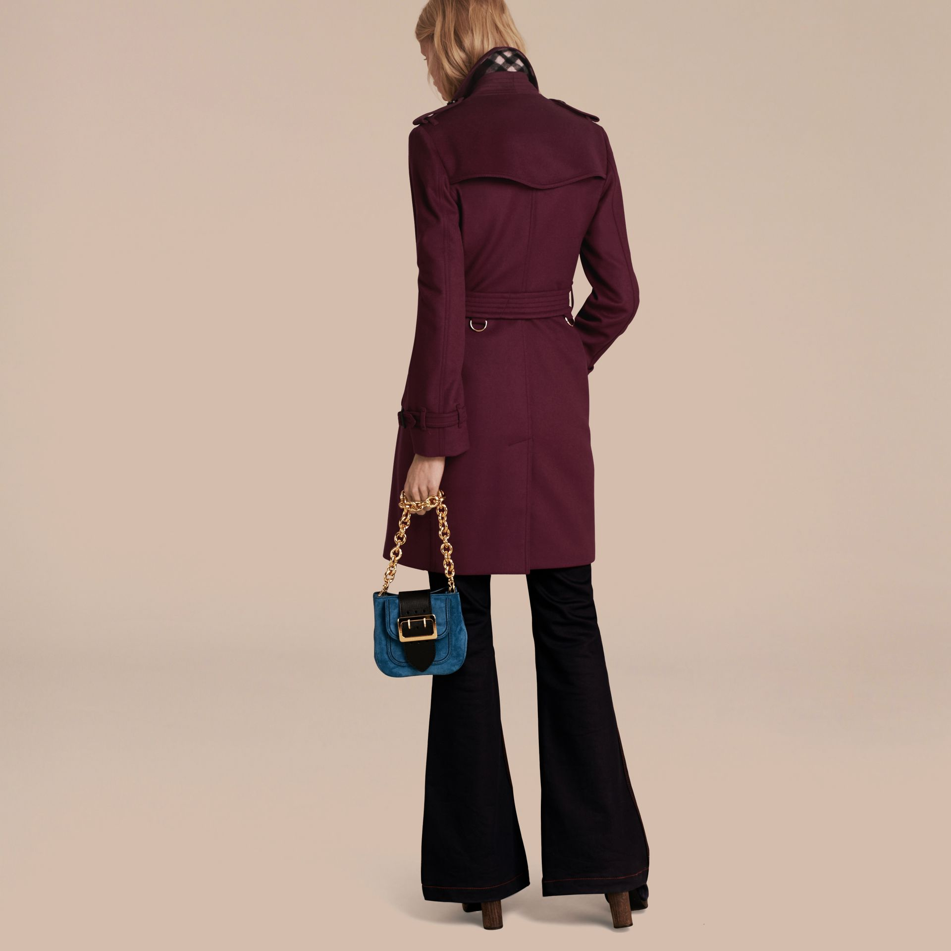 Wool Cashmere Trench Coat - gallery image 3