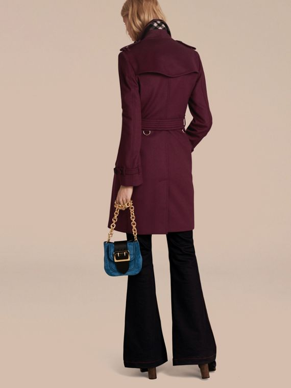 Cherry pink Wool Cashmere Trench Coat - cell image 2
