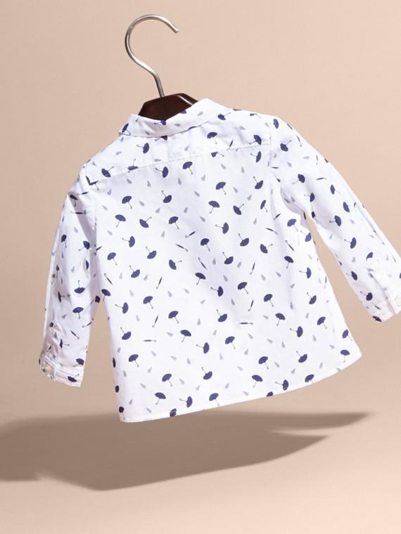 Button-down Collar Umbrella Motif Cotton Shirt - cell image 3