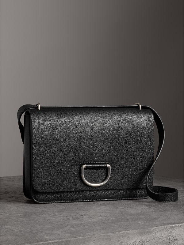 The Medium Leather D-ring Bag in Black - Women | Burberry - cell image 3