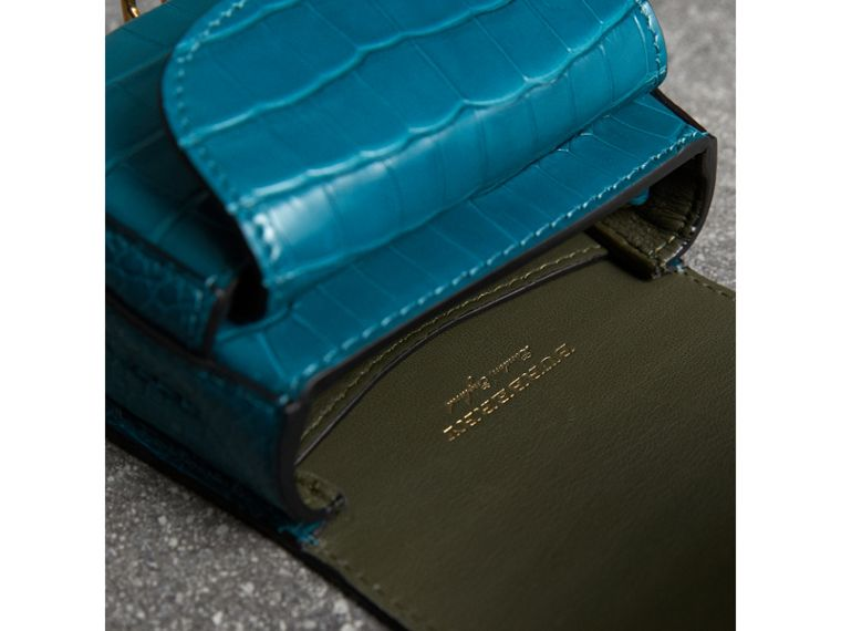 The Pocket Satchel in Alligator in Dark Teal | Burberry United Kingdom - cell image 4