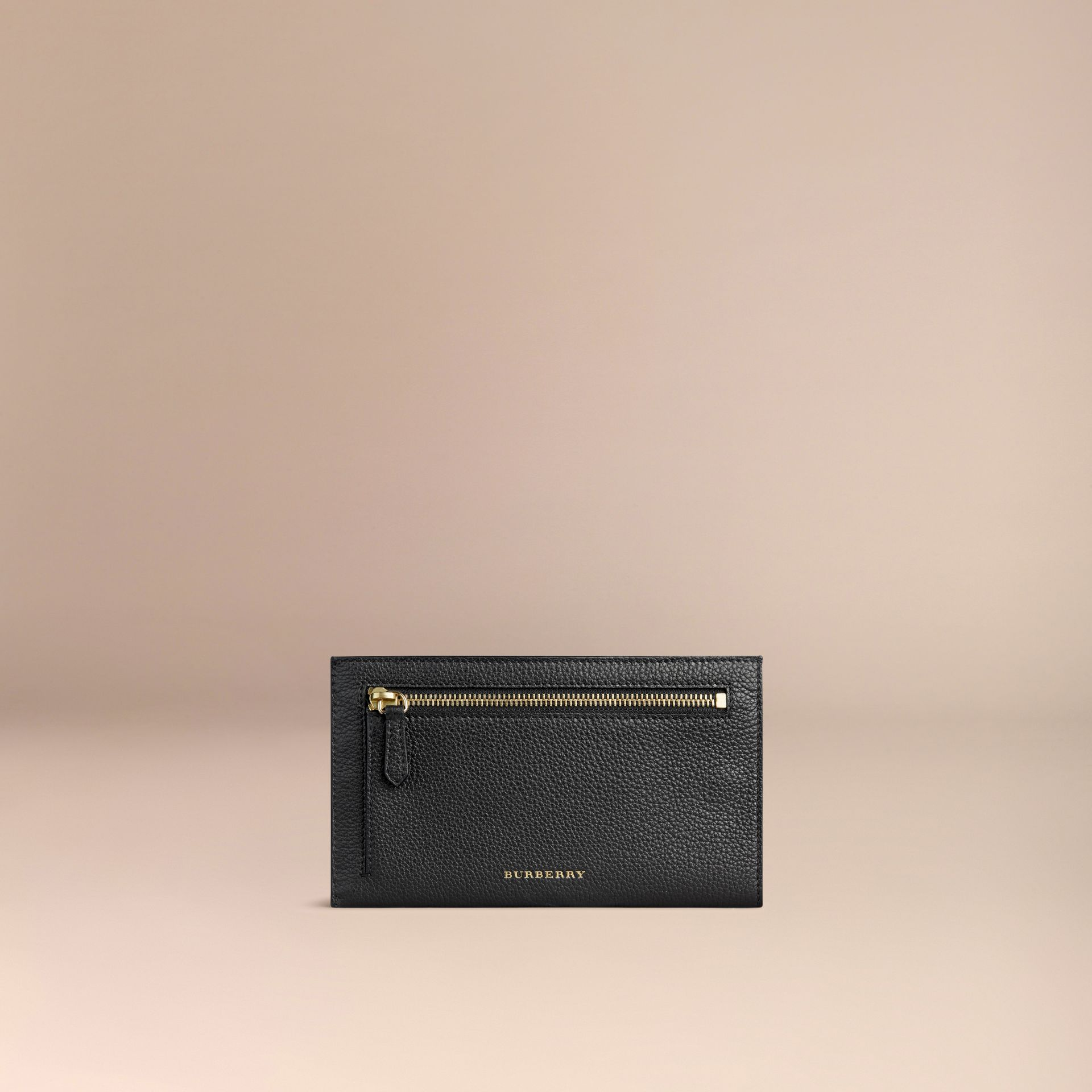 Grainy Leather Travel Case in Black - Men | Burberry Singapore - gallery image 2