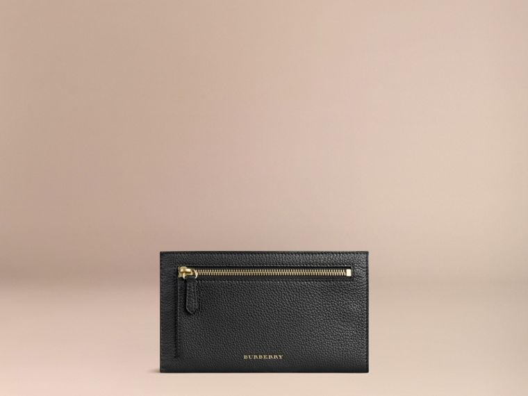 Grainy Leather Travel Case in Black - Men | Burberry Canada - cell image 1