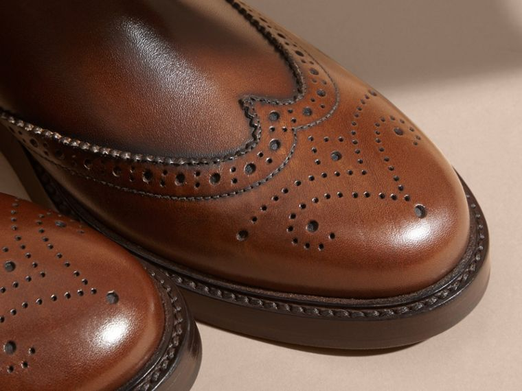 Leather Wingtip Chelsea Boots - cell image 1
