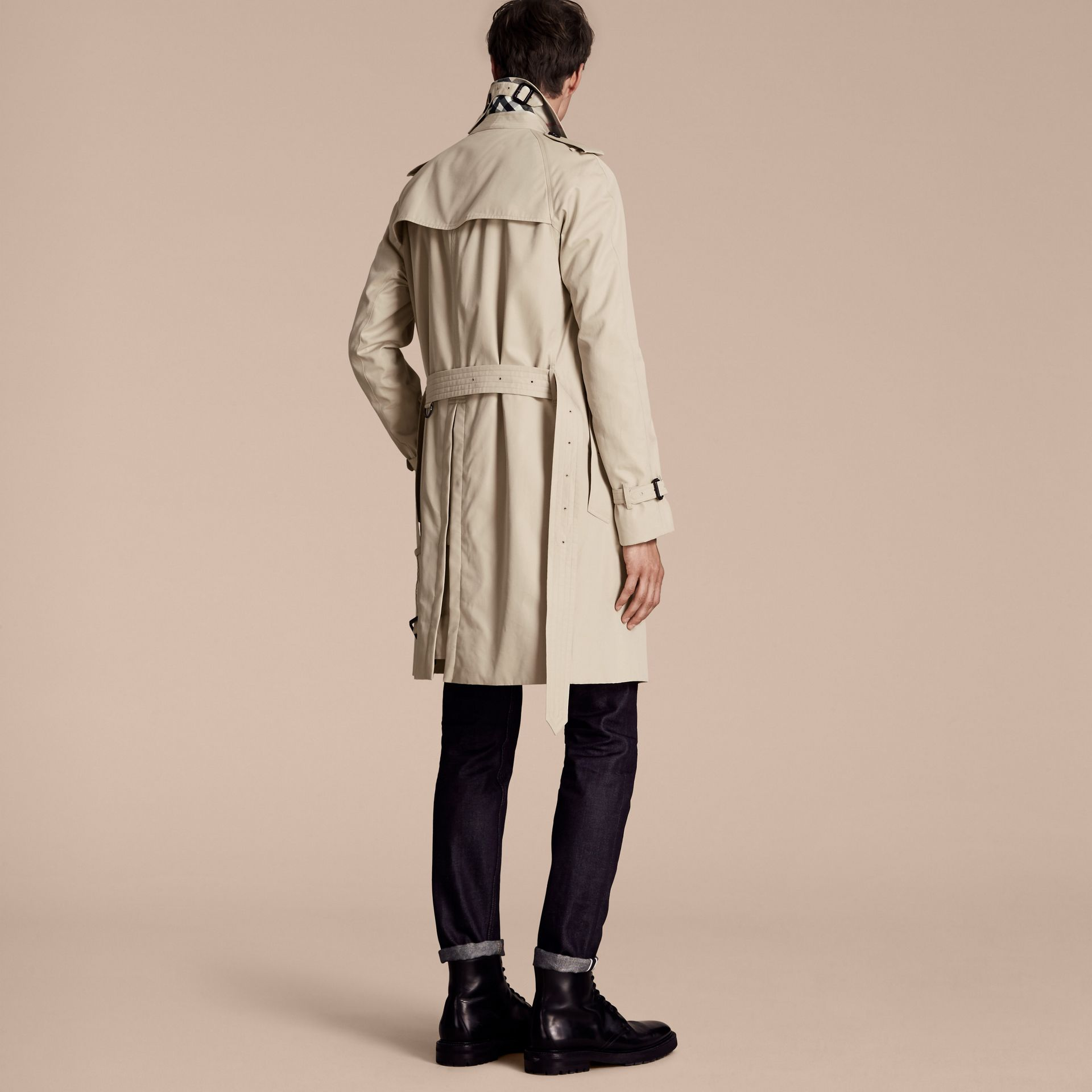Stone The Wiltshire – Long Heritage Trench Coat Stone - gallery image 3