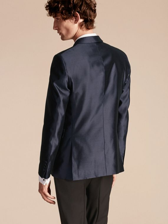 Ink Slim Fit Tailored Silk Jacket - cell image 2