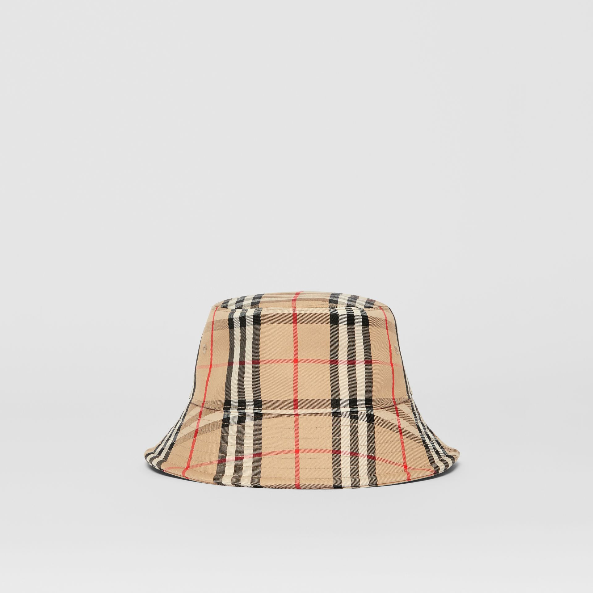 Vintage Check Cotton Blend Bucket Hat in Archive Beige | Burberry United Kingdom - gallery image 0