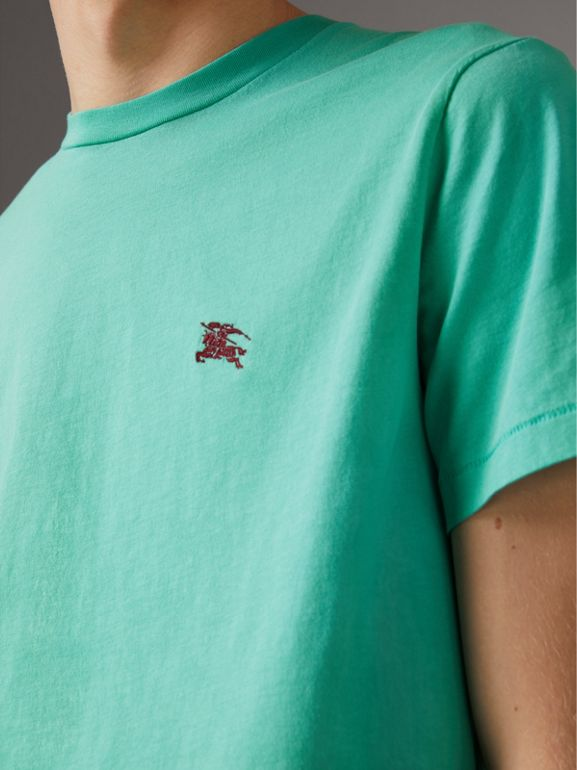 Cotton Jersey T-shirt in Turquoise - Men | Burberry - cell image 1