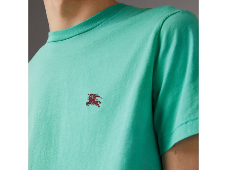 Cotton Jersey T-shirt in Turquoise - Men | Burberry United Kingdom - cell image 1