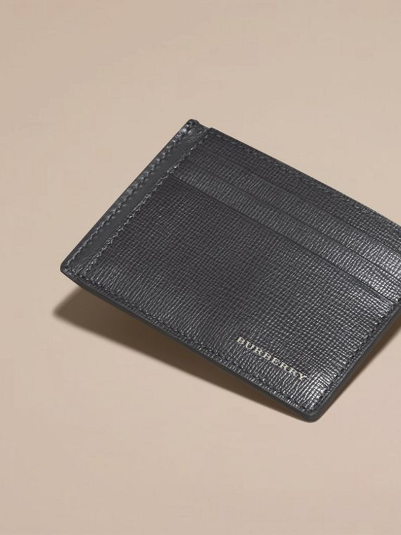 Charcoal London Leather Card Case Charcoal - cell image 2