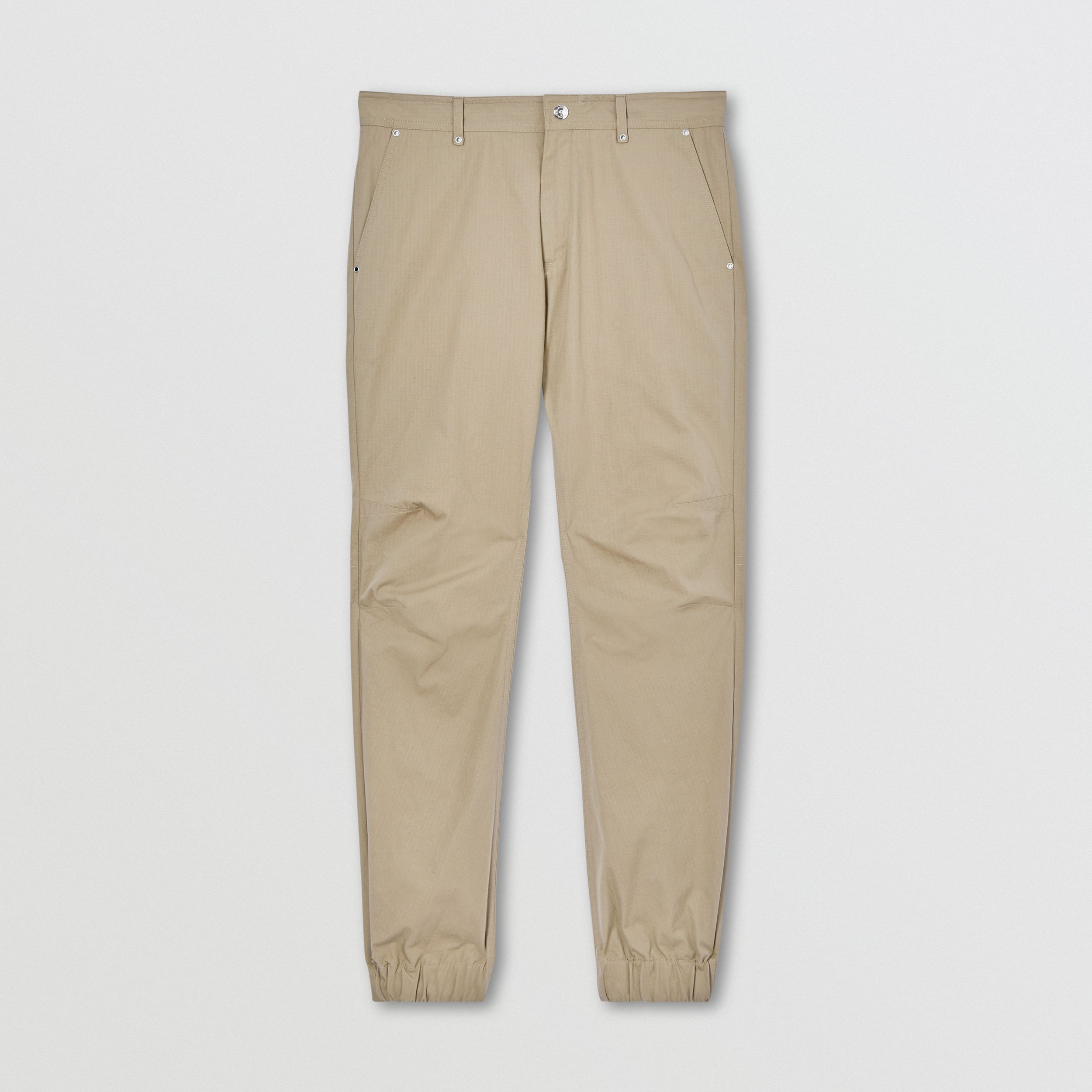 Ripstop Cotton Trousers in Stone - Men | Burberry - 4