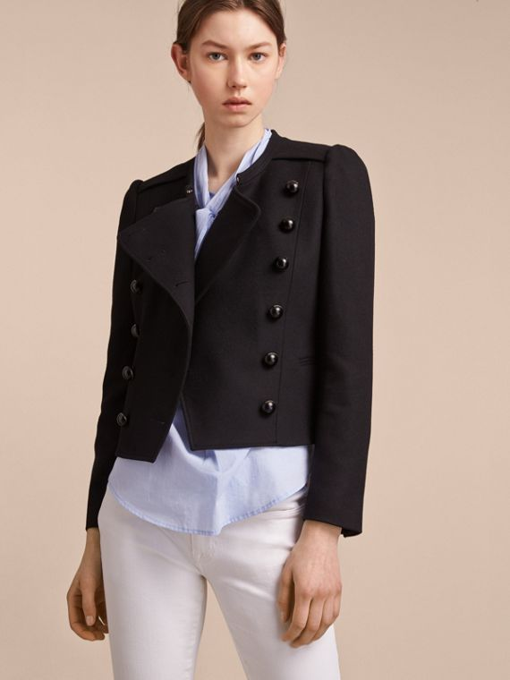 Wool Blend Double-breasted Jacket - Women | Burberry Australia