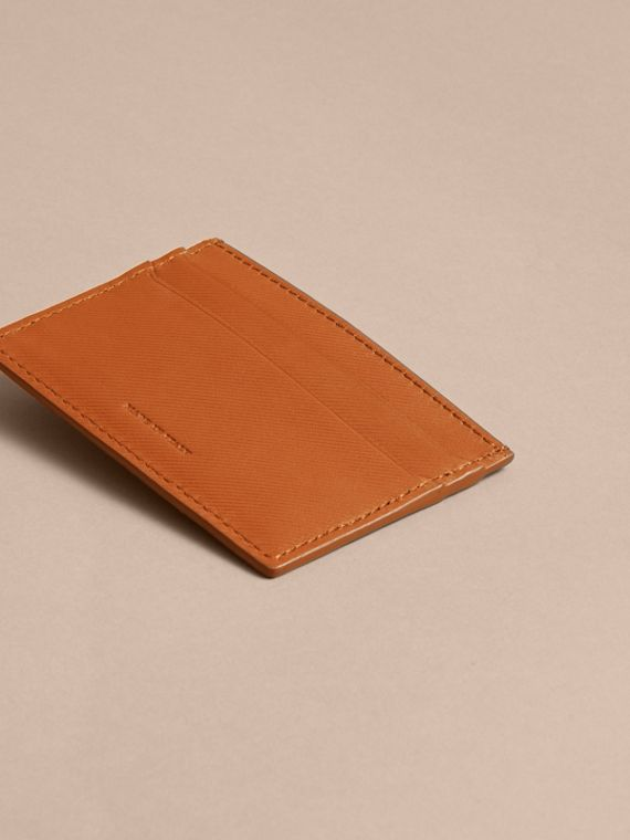 Trench Leather Card Case in Tan - Men | Burberry Australia - cell image 3