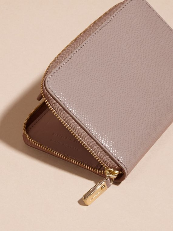 Pale grey Patent London Leather Ziparound Wallet Pale Grey - cell image 3