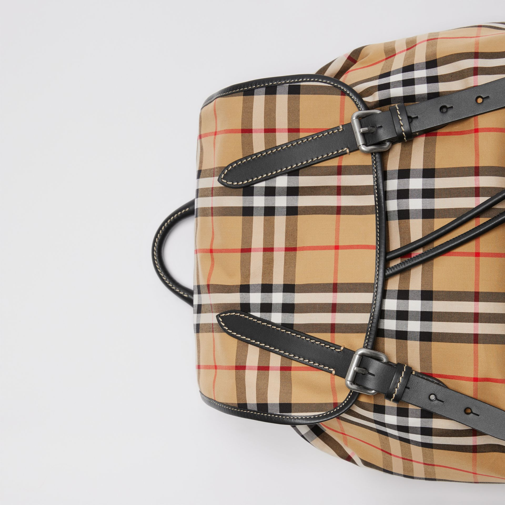 The Large Rucksack in Vintage Check in Antique Yellow | Burberry Hong Kong - gallery image 1