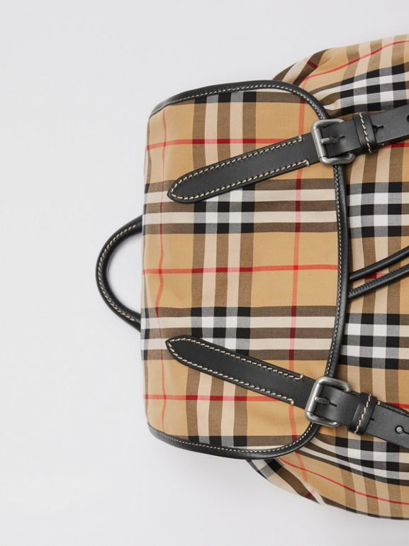 The Large Rucksack in Vintage Check in Antique Yellow | Burberry Hong Kong - cell image 1