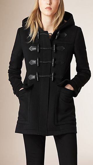 Fitted Wool Duffle Coat