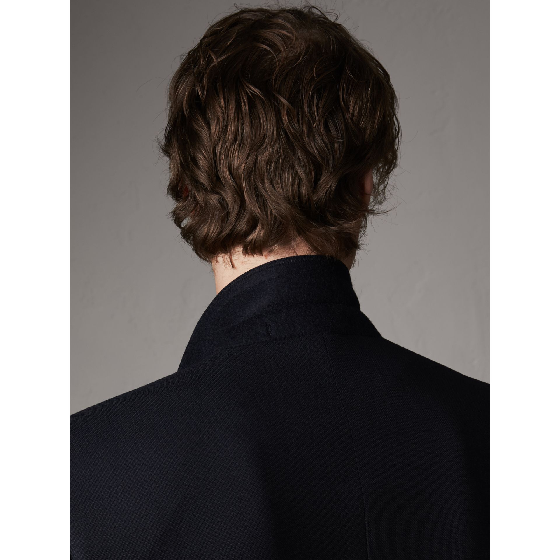 Modern Fit Tailored Wool Half-canvas Jacket in Navy - Men | Burberry Singapore - gallery image 5