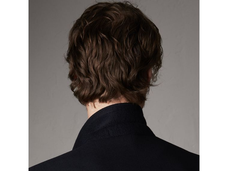 Modern Fit Tailored Wool Half-canvas Jacket in Navy - Men | Burberry - cell image 4