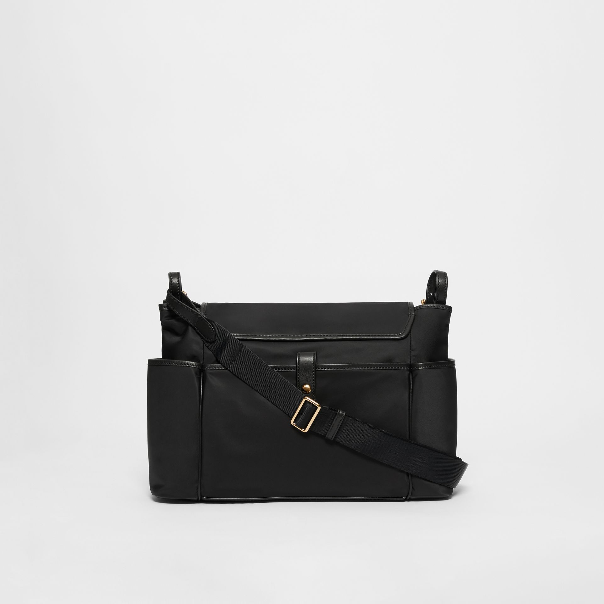 Logo Print Baby Changing Bag in Black - Children | Burberry - gallery image 5