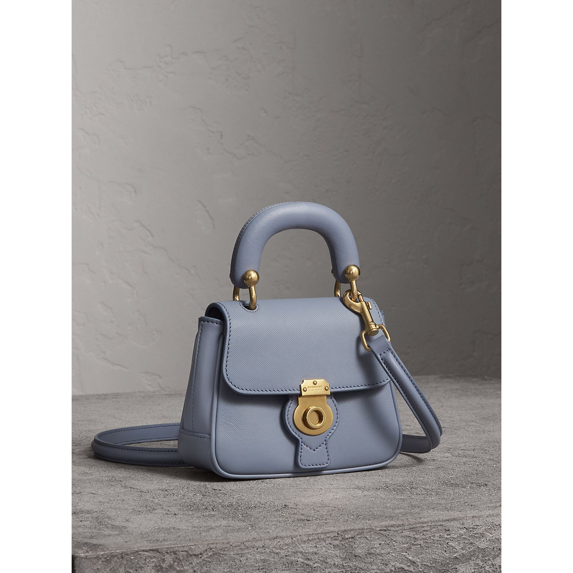The Mini DK88 Top Handle Bag in Slate Blue - Women | Burberry - gallery image 6
