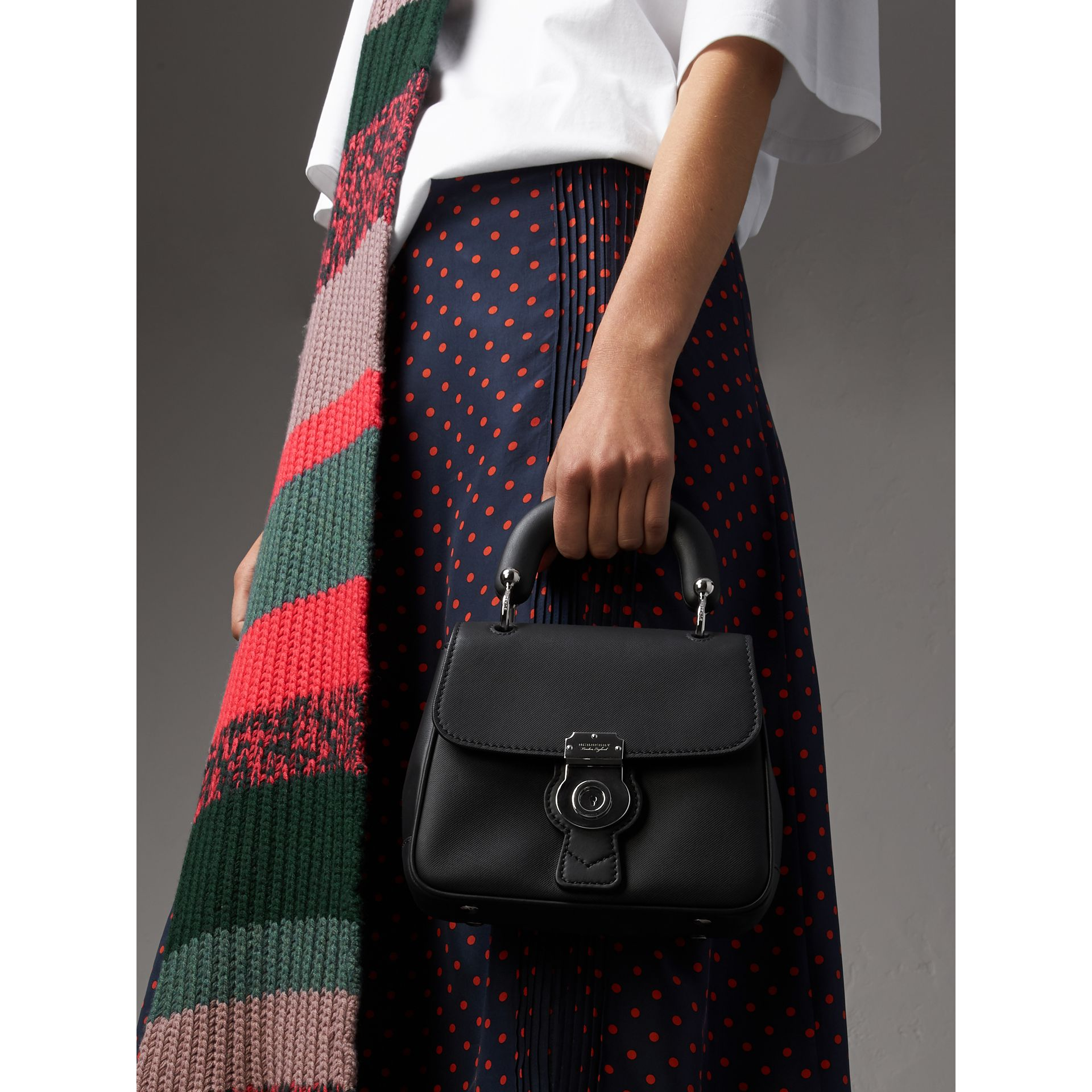 The Small DK88 Top Handle Bag in Black - Women | Burberry United Kingdom - gallery image 3