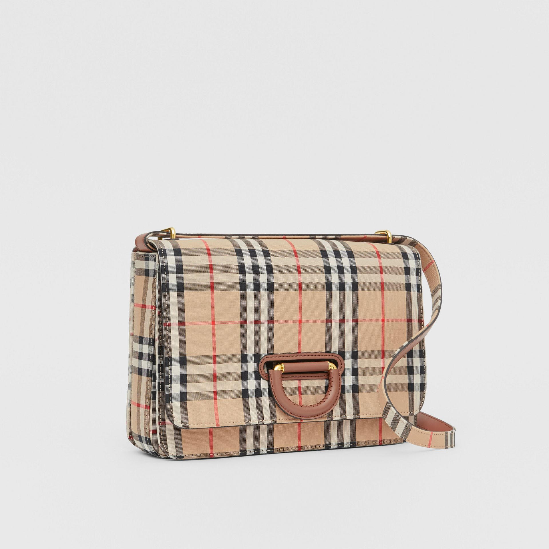 The Medium Vintage Check D-ring Bag in Archive Beige - Women | Burberry - gallery image 4